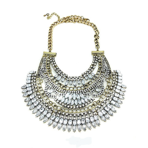 Bold Vintage Statement Necklace - Navya