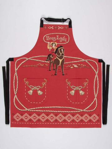 Boss Lady Apron - Blue Q