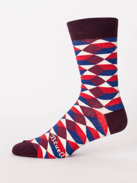 Men's Crew Socks - Busy Mking a Difference - Blue Q - Navya