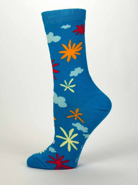 Women's Crew Socks - Carpe The Diem F*** Out of This - Blue Q - Navya