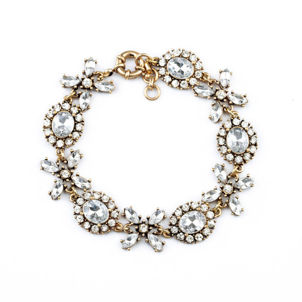 Crystal Lace Statement Bracelet full