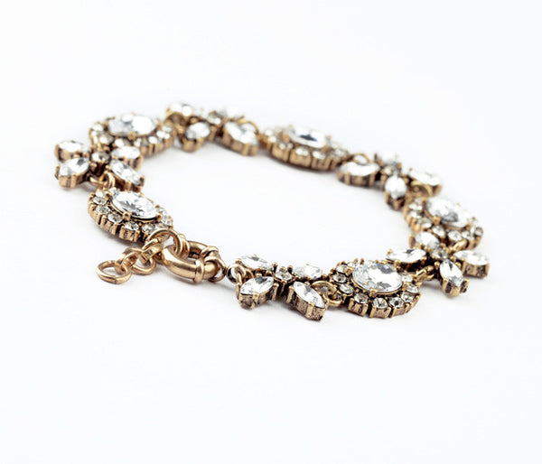 Crystal Lace Statement Bracelet - Navya