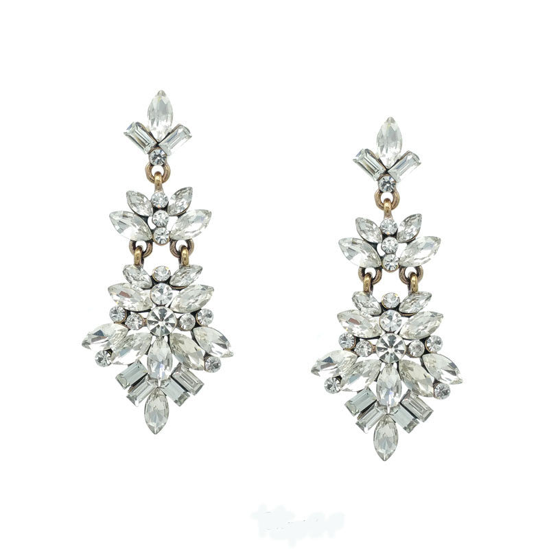 Crystal Dream Statement Earrings - Navya