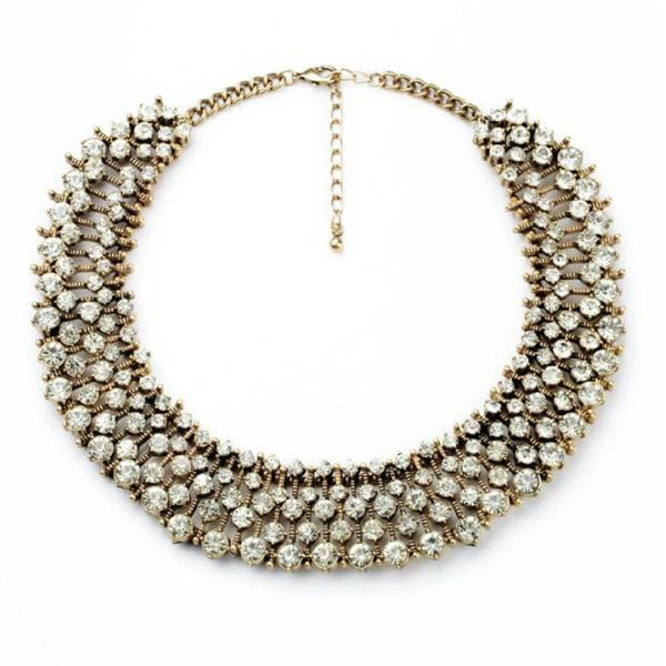 Crystal Ixora Statement Necklace - Navya