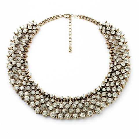 Crystal Ixora Statement Necklace full