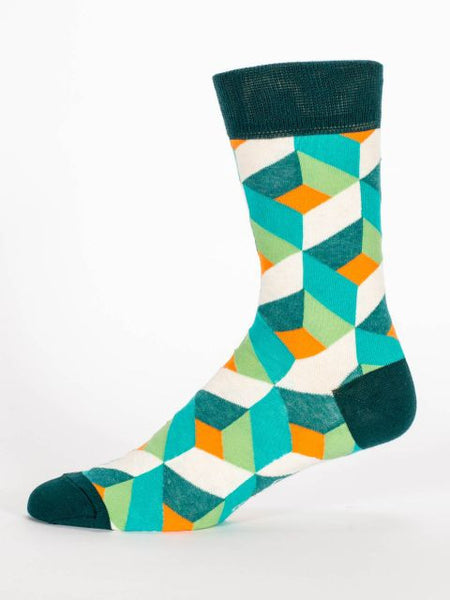 Men's Crew Socks - Do I Look Like A Team Player - Blue Q - Navya