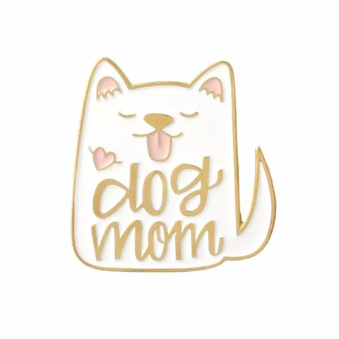 Cute Dog Mom Brooch - Navya