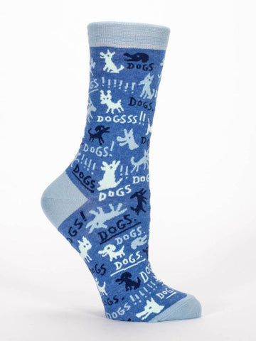 Women's Crew socks - Dogs! - BlueQ - Navya