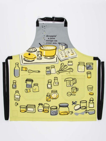Droppin' a New Recipe Apron - Blue Q