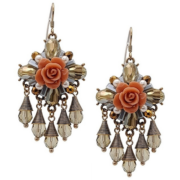 Emily Floral Statement Earrings - Navya