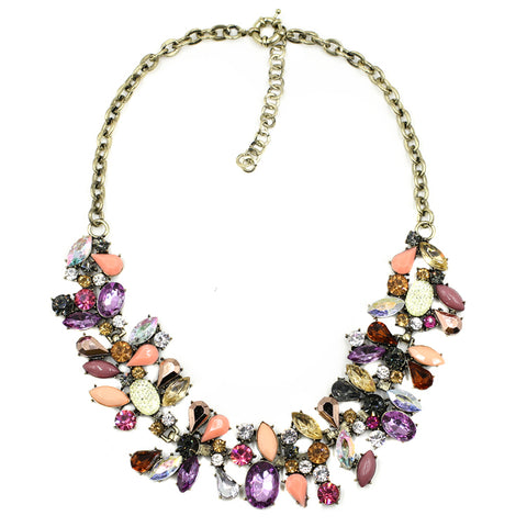 Rose Bouquet Statement Necklace - Navya