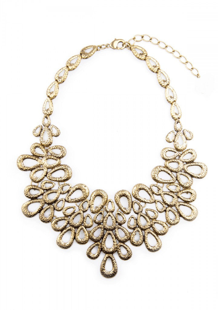 Flower Bouquet  Vintage Statement Necklace - Navya