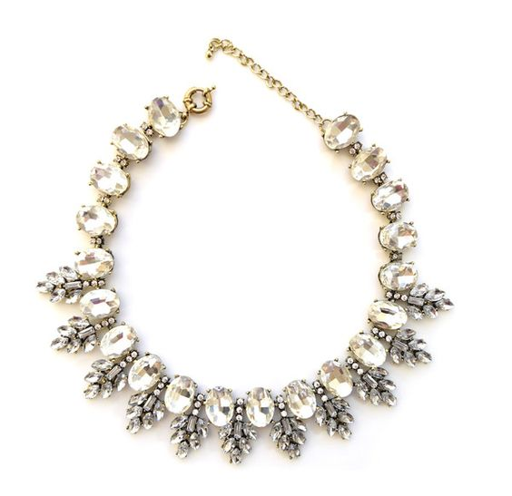 Frozen Crystal Statement Necklace - Navya