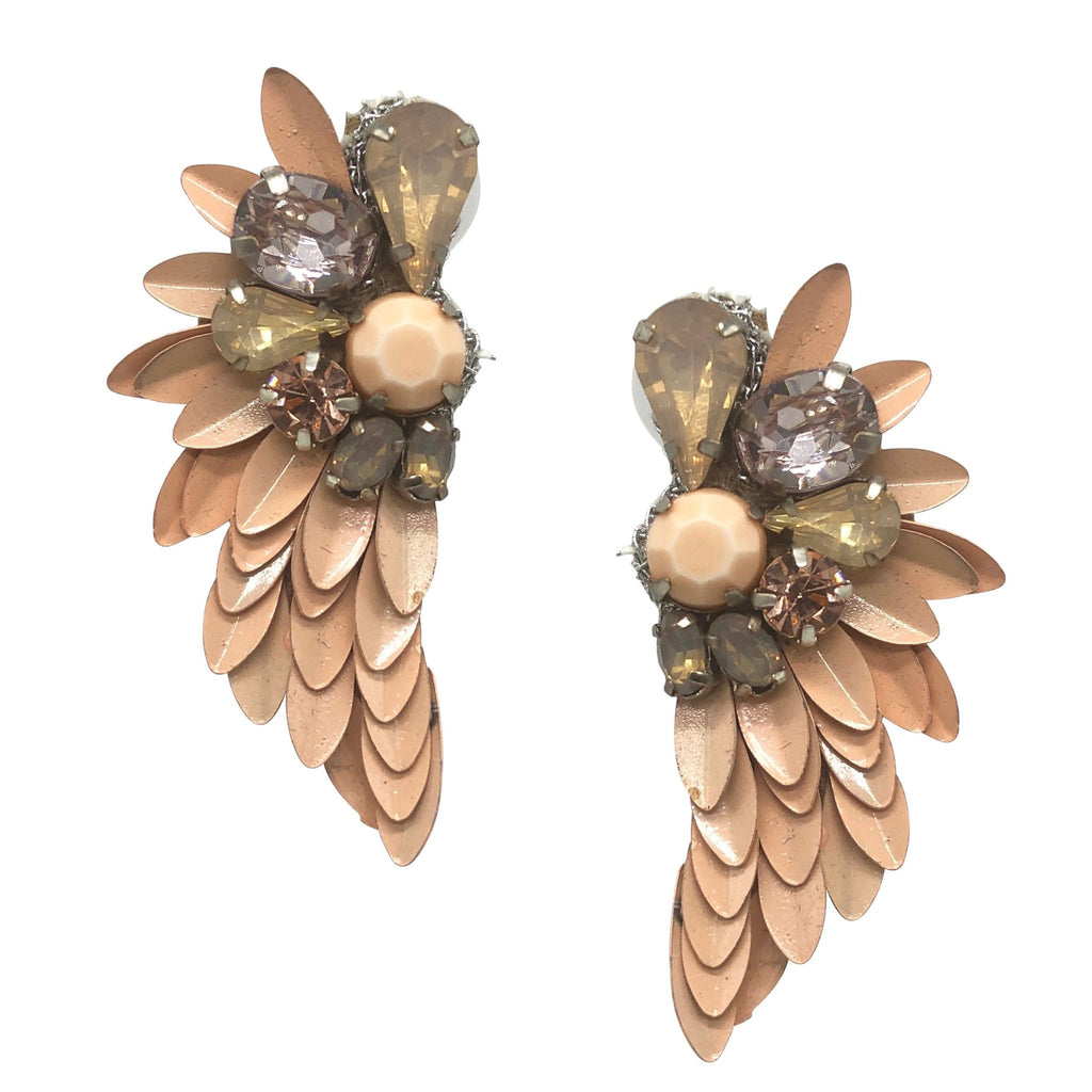 Gaia Flora Statement Earrings - Navya