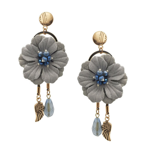 Georgia Floral Statement Earrings - Navya