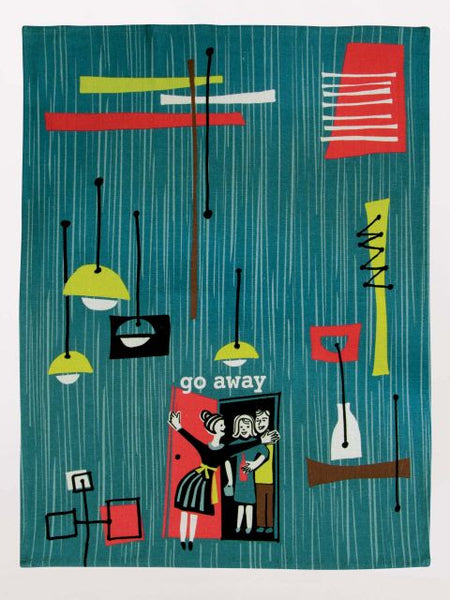 Go Away Kitchen Dish Towel - Blue Q - Navya