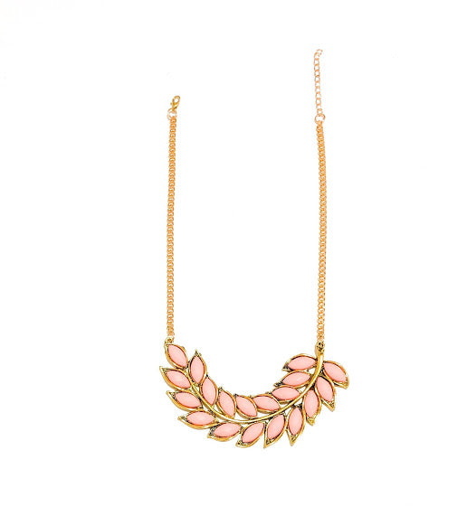Peach Leaf Necklace - Navya