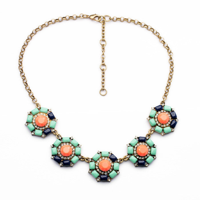 Anemone Fashion Statement Necklace - Navya