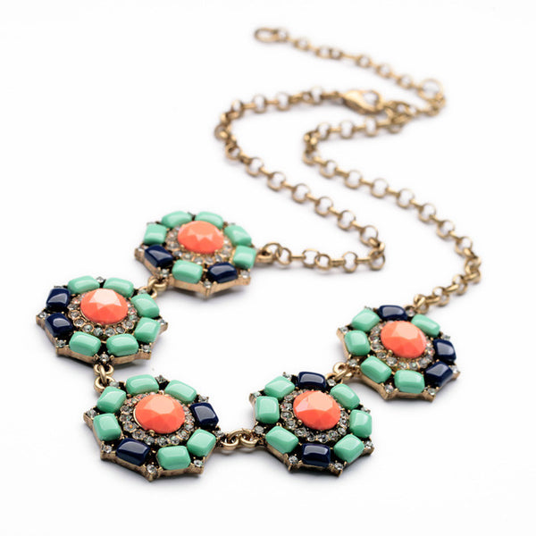 multicolor Anemone Statement Necklace featured shot 1
