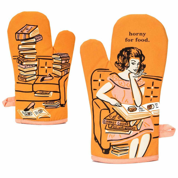 Horny For Food Oven Mitt - Blue Q - Navya