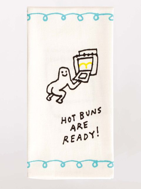 Hot Buns are Ready Kitchen Dish Towel - Blue Q - Navya