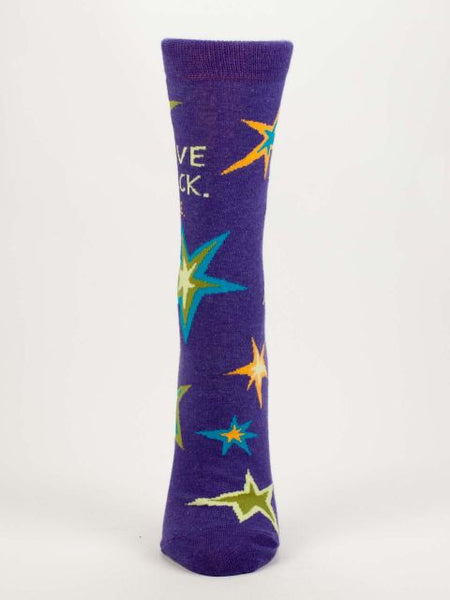 Women's Crew Socks - I Gave A F***, Once - Blue Q - Navya