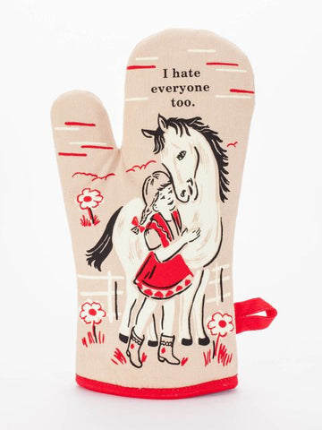 I Hate Everyone Too Oven Mitt - Blue Q - Navya