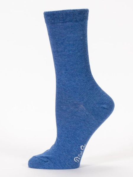 Women's Crew Socks - I Have to Pee Again - Blue Q - Navya