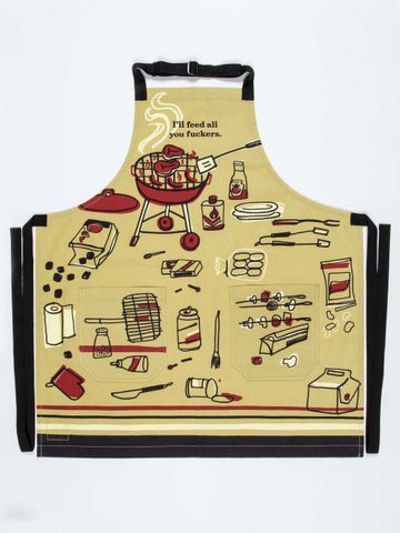 I Will Feed You All Apron - Blue Q