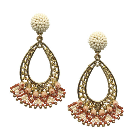 Inaya Beaded Statement Earrings - Navya
