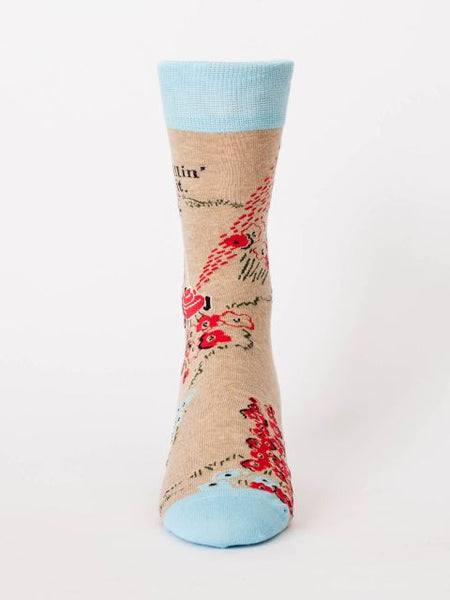 Men's Crew Socks - Killin' It - Blue Q - Navya