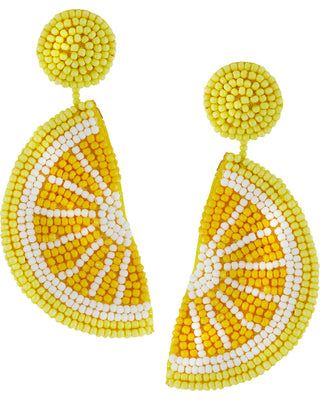 Citrus Beaded Earrings - Navya