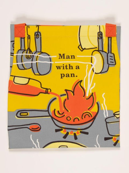 Man with a Pan Apron - Blue Q
