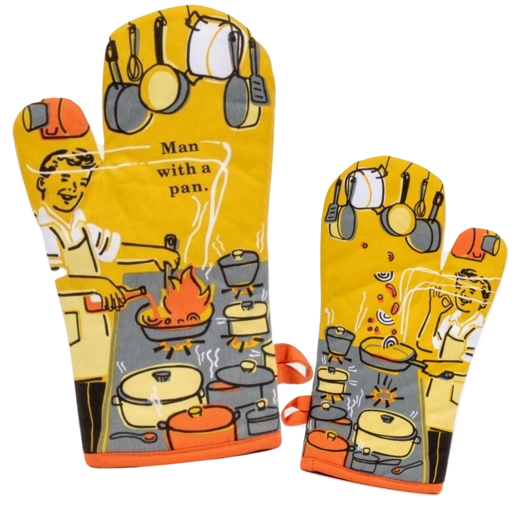 Man with a Pan Oven Mitt - Blue Q - Navya