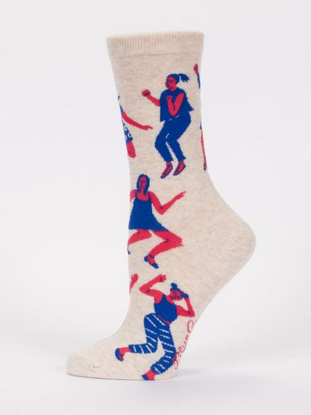 Women's Crew Socks -Me When My Song Comes On - Blue Q - Navya