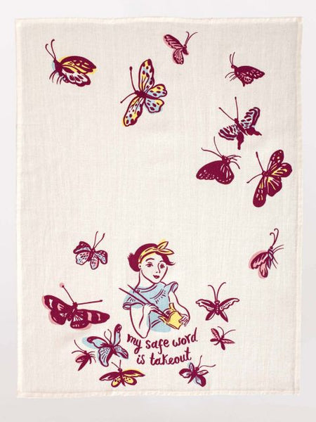 My Safe Word is Takeout Kitchen Dish Towel - Blue Q - Navya