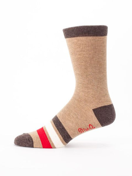 Men's Crew Socks - Natural Born Asshole - Blue Q - Navya