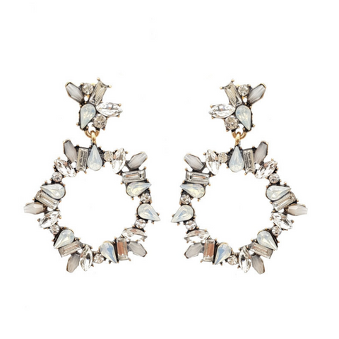 Noemi Crystal Statement Earrings - Navya