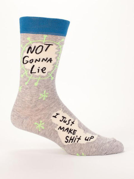 Men's Crew Socks - Not Gonna Lie - Blue Q - Navya