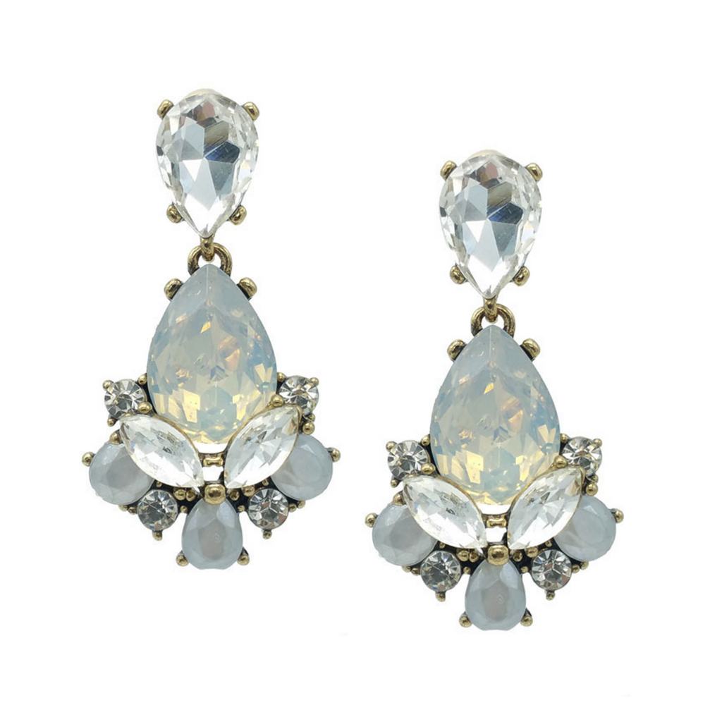 Opal Shine and Sparkle Statement Earrings - Navya