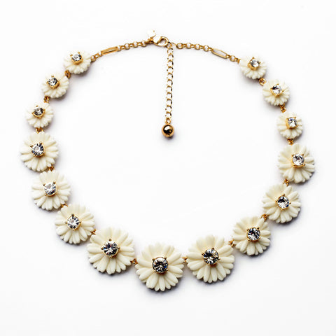 Pear Blossom Statement Necklace
