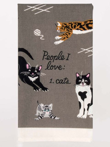 People, I Love Cats Kitchen Dish Towel - Blue Q - Navya