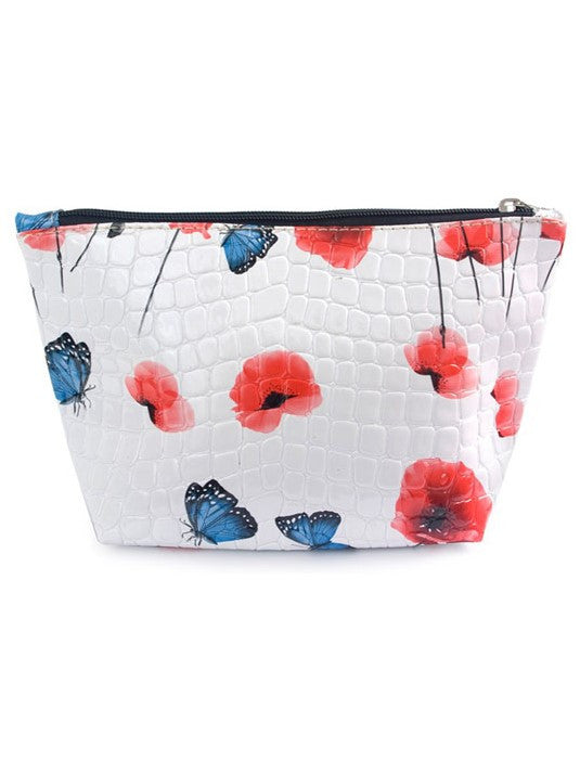 Red Poppies Cosmetic Bag - Navya
