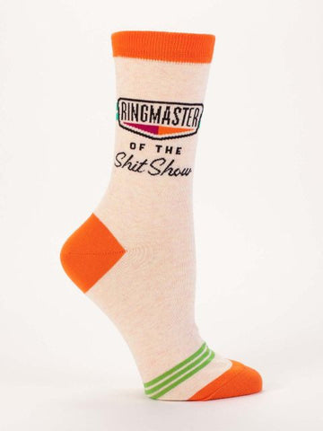 Women's Crew Socks - Ringmaster of the Shit Show - Blue Q - Navya