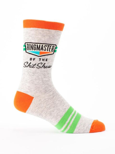 Men's Crew Socks - Ringmaster of the Shit Show - Blue Q - Navya