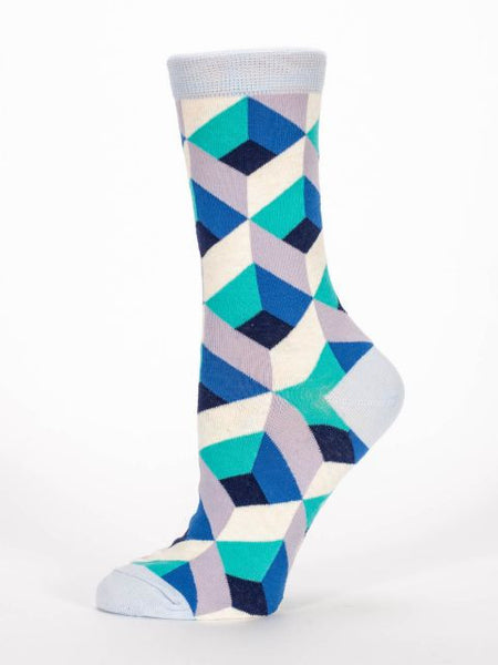 Women's Crew socks - Salad Makes Me Sad - BlueQ - Navya