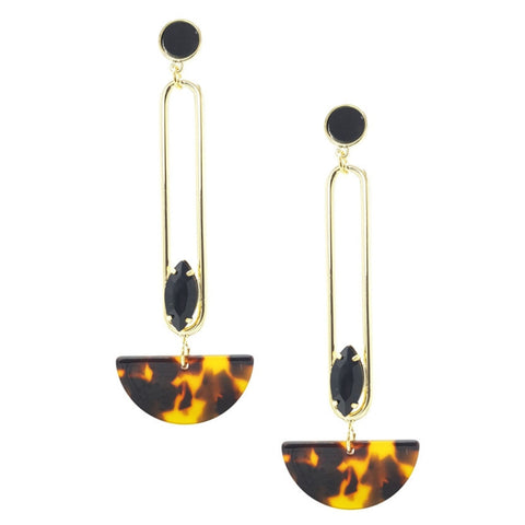 Sarahi Resin Statement Earrings - Navya