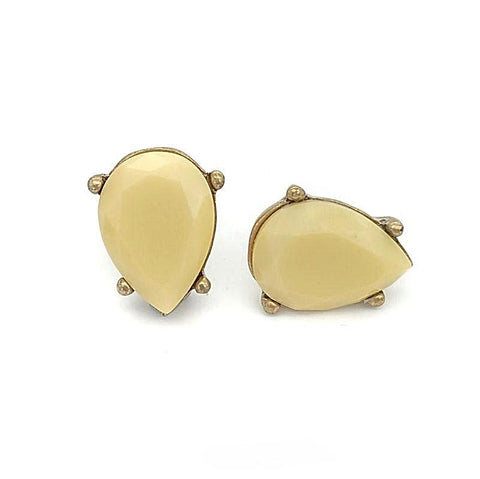Angel Tear Drop Stud Earrings - Navya