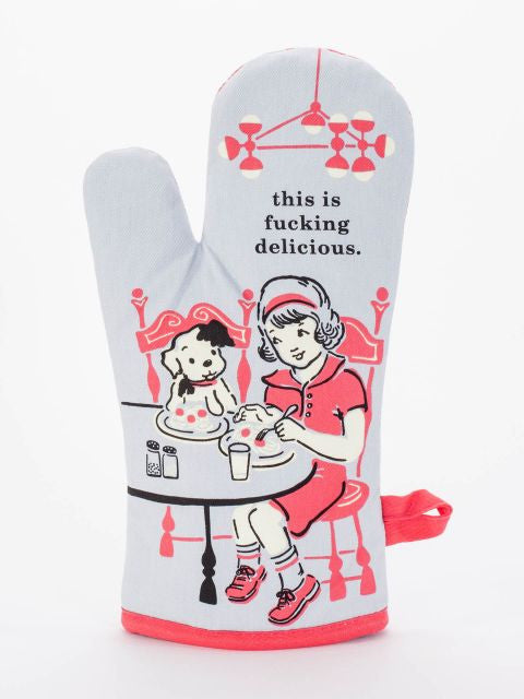 This is Fucking Delicious Oven Mitt - Blue Q - Navya
