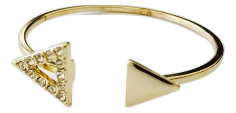 Gold Triangle Ended Cuff Bracelet